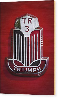 1960 Triumph Tr3a Wood Print by David Patterson