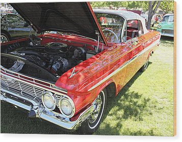 1961 Chevrolet Impala Ss Convertible . 5d16268 Wood Print by Wingsdomain Art and Photography