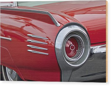 1961 Ford Thunderbird Taillight Wood Print by Jill Reger