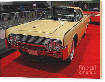 1961 Lincoln Continental Sedan . 7d9230 Wood Print by Wingsdomain Art and Photography