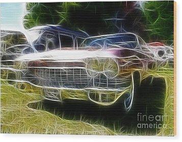 1962 Caddy Cadillac Wood Print by Paul Ward