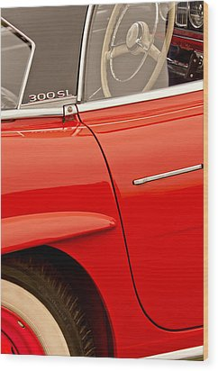 1962 Mercedes-benz 300 Sl Roadster Wood Print by Jill Reger