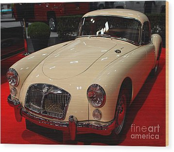 1962 Mg A 1600 Mark II Coupe . Vanilla White . 7d9325 Wood Print by Wingsdomain Art and Photography