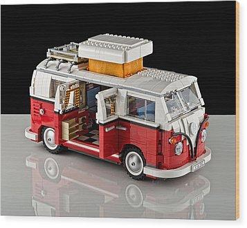 1962 Vw Lego Bus Wood Print by Noah Katz