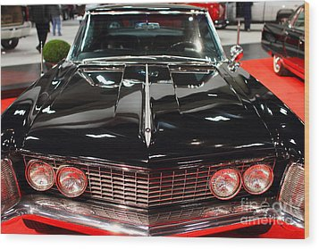 1963 Buick Riviera . Black . 7d9318 Wood Print by Wingsdomain Art and Photography