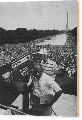 1963 March On Washington. Nbc Wood Print by Everett