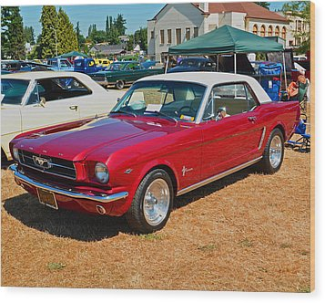 1964 Ford Mustang Wood Print by Tikvah's Hope