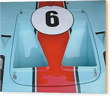 1965 Ford Gt40 Hood Detail Wood Print by John Colley