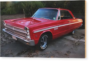 Wood Print featuring the photograph 1965 Plymouth Fury by Elizabeth Coats