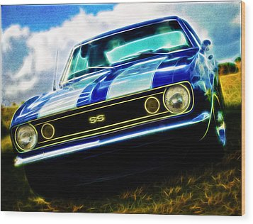 1967 Chevrolet Camaro Ss Wood Print by Phil 'motography' Clark
