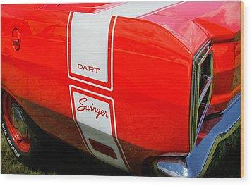 1969 Dodge Dart Swinger 340 Wood Print by Thomas Schoeller