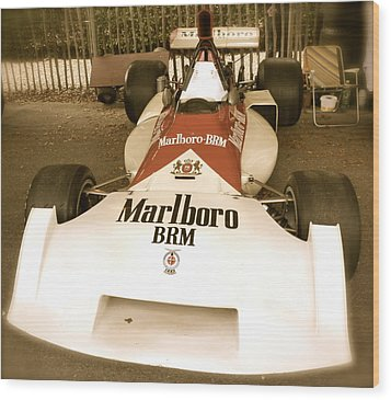 1971 Brm P160 Formula 1 Grand Prix Car Wood Print by John Colley