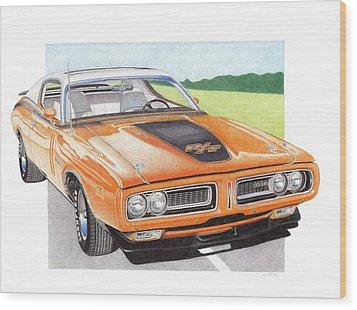 1971 Dodge Charger Rt Wood Print by James Robert
