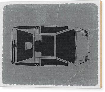 1972 Maserati Boomerang Wood Print by Naxart Studio