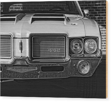 1972 Olds 442 Black And White  Wood Print by Gordon Dean II
