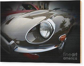 1973 Jaguar Type E Front Wood Print by Paul Ward