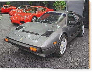 1984 Ferrari 308 Gts Qv . 7d9372 Wood Print by Wingsdomain Art and Photography