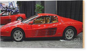 1987 Ferrari Testarossa . 7d9399 Wood Print by Wingsdomain Art and Photography