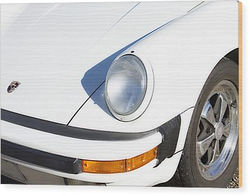 1987 White Porsche 911 Carrera Front Wood Print by James BO  Insogna