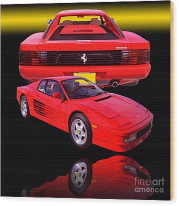 1990 Ferrari Testarossa Wood Print