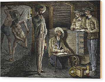 19th-century Coal Mining Wood Print by Sheila Terry
