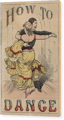 19th Century Dance Manual, How Wood Print by Everett