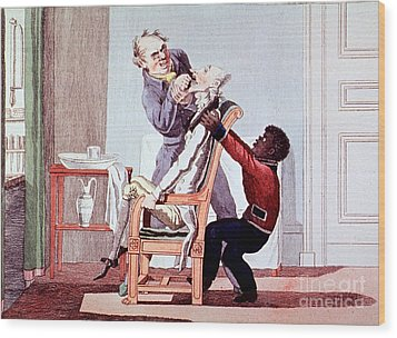 19th Century Dentistry Tooth Extraction Wood Print by Science Source