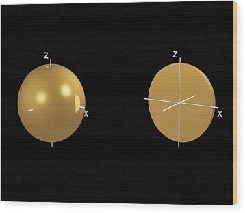1s Electron Orbital Wood Print by Dr Mark J. Winter