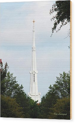 Wood Print featuring the photograph 1st Christian Steeple by Kay Lovingood