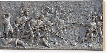 1st Minnesota Monument At Gettysburg Wood Print by Randy Steele