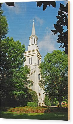 Wood Print featuring the photograph 1st Presbyterian Church by Kay Lovingood