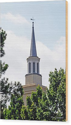 Wood Print featuring the photograph 1st Presbyterian Steeple by Kay Lovingood