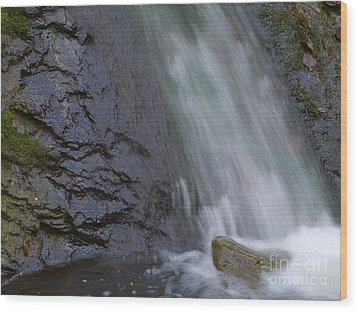 Waterfall Wood Print by Odon Czintos