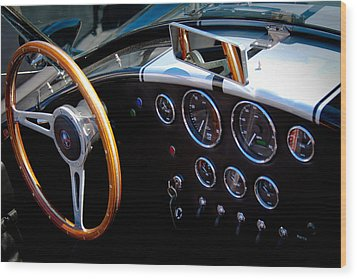 1966 Ford Ac Shelby Cobra 427 Wood Print by David Patterson