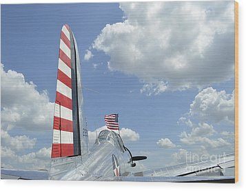 A Bt-13 Valiant Trainer Aircraft Wood Print by Stocktrek Images