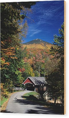 A Covered Bridge Wood Print by Richard Nowitz