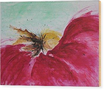 Abstract Flower  Wood Print by Ismeta Gruenwald