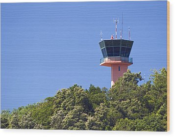 Airport Control Tower. Wood Print by Fernando Barozza