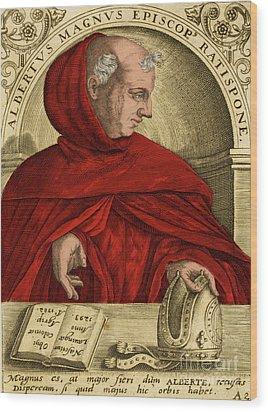 Albertus Magnus, Medieval Philosopher Wood Print by Science Source