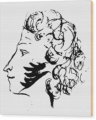 Aleksandr Pushkin Wood Print by Granger