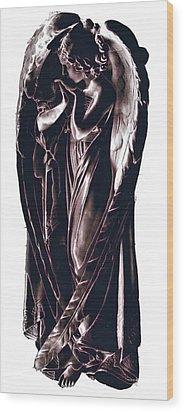 Angel Wood Print by J erik Leiff