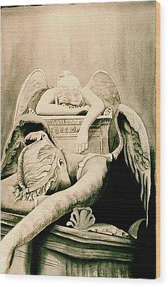 Angel Of Grief Wood Print by Teresa Beyer