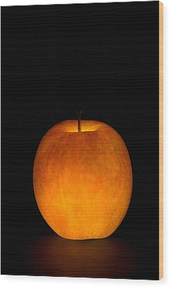 Wood Print featuring the photograph Apple by Michael Dorn