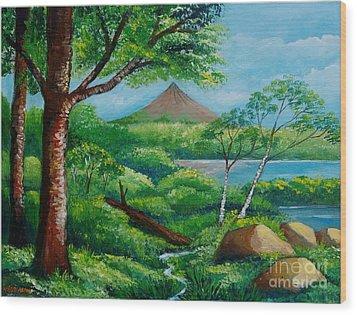 Arenal Volcano Wood Print