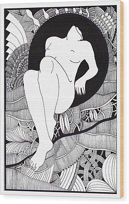 Art Wood Print by Marek Burbul