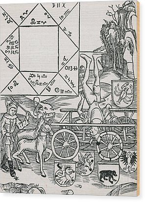 Astrology Wood Print by Science Source