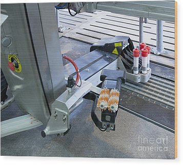 Automated Milking Machine Wood Print by Jaak Nilson