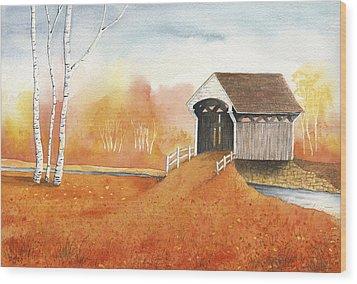 Autumn Color Wood Print by Greg Dolan