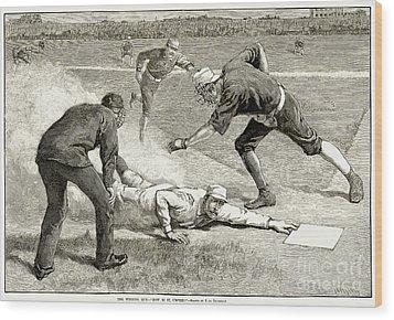 Baseball Game, 1885 Wood Print by Granger