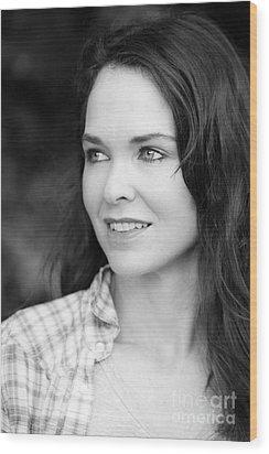 Beautiful Woman Wood Print by Johan Larson